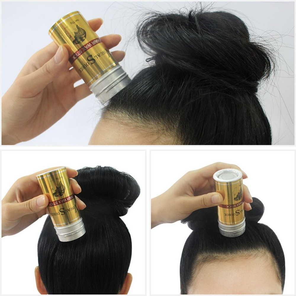 Men Women Hair Styling Pomade Stick Rapid Fixed Repair Fashion Modeling Natural Not Oily ...