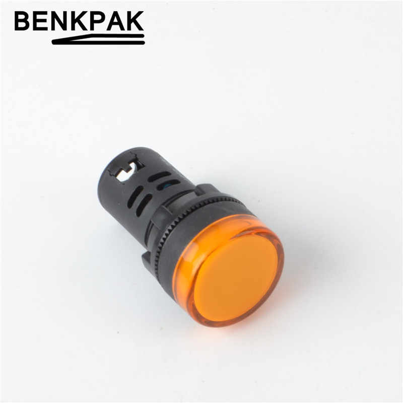 1 stücke 5 V (6,3 V) 12 V 24 V 220 V 22mm Panel Mount Led-betriebsanzeige Pilot Signal Licht Lampe
