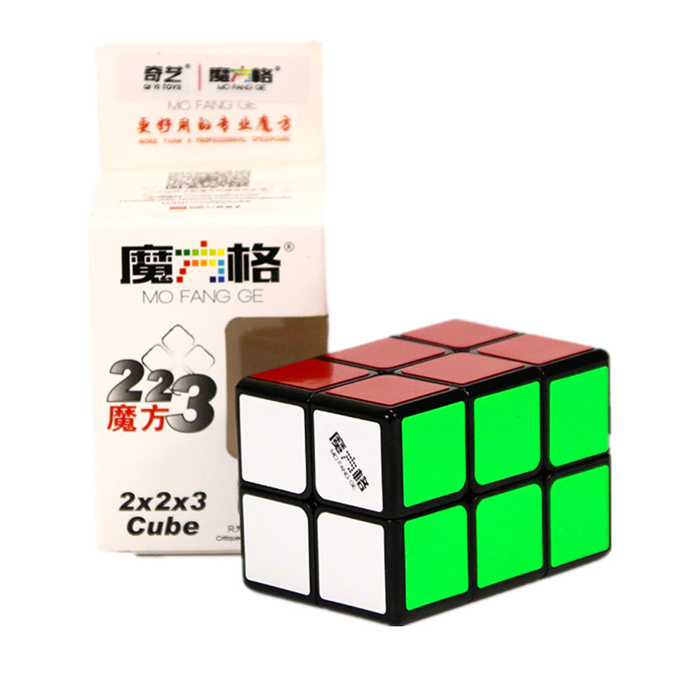 Qiyi 2x2x3 Magic Cube 2x2x3 Cube Black And White Color 223 Cube Puzzle Toys For Children Kids Gift Education Toy