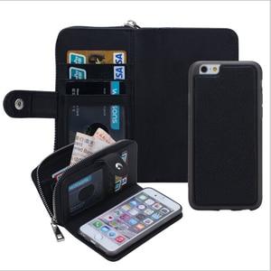 Image 3 - Новинка для iPhone X 8 7 6 6S 8 Plus кошелек сумка полиуретановая на молнии кошелек чехол для Samsung galaxy S8 Plus S7 S6 Edge S5 Note 8 Сумочка чехол