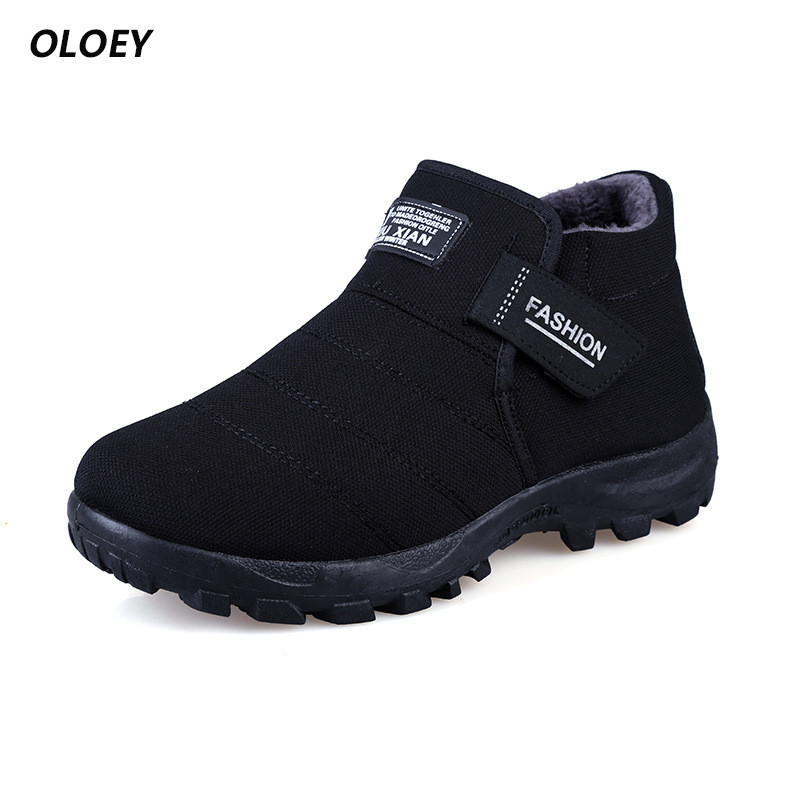 Winter Fur Snow Autumn Non-Slip Mens Rubber Rain Sole Ankle Boots Waterproof Footwear Military Shoes Botas Masculina france tigergrip waterproof work safety shoes woman and man soft sole rubber kitchen sea food shop non slip chef shoes cover