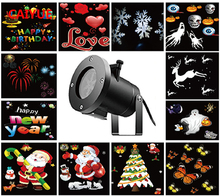 New Holiday Decoration Waterproof Outdoor LED Stage Light 12 Types Christmas Laser Snowflake Projector Lights Star Home Garden