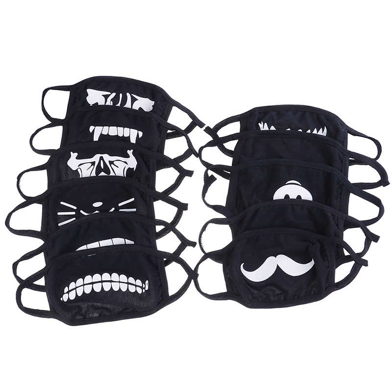 10 STYLE Cute Cotton Dustproof Mouth Face Mask Anime Cartoon Kpop Lucky Bear Pig Teeth Women Men Muffle Face Mouth Masks Hot