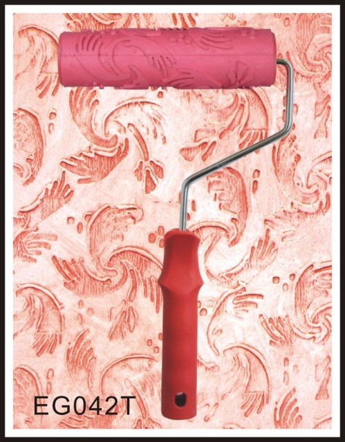 Wallpaper Paint Roller 7 inch flower patterned paint roller rubber roller liquid