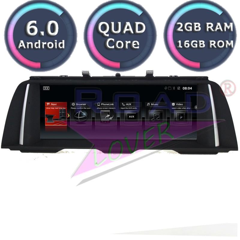 Roadlover Android 6.0 Autoradio pour BMW 5 Serie F10 F11 2011 2012 2013 2014 2015 2016 2017 stéréo GPS Magnitol pas de lecteur DVD