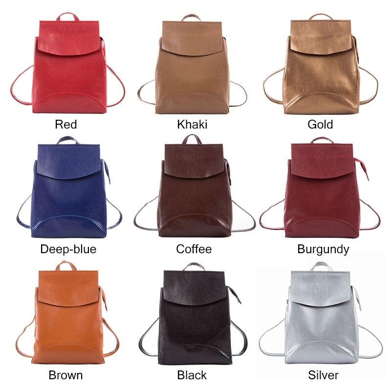 HJPHOEBAG New high quality Women Backpacks  Fashion Teenager Girls School bag PU Mochila Zipper Students Shoulders bag HJ-811