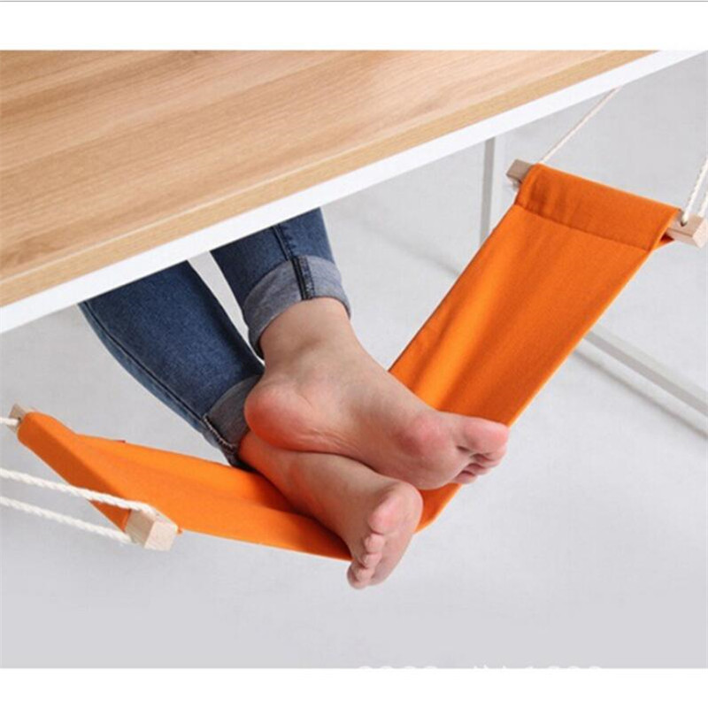 Portable Office Foot Hammock Mini Feet Rest Stand Desk Footrest Hamac Hangmat Study Table Hang Leisure Hanging Chair Orange In Hammocks From Furniture On
