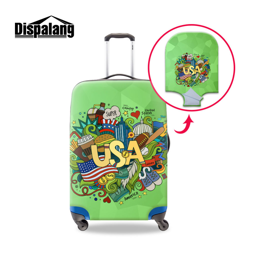 Dispalang Country Illustration Luggage Protective Cover For 18-30 Inch Case Suitcase Dust Cover Travel Accessories (Only Cover)