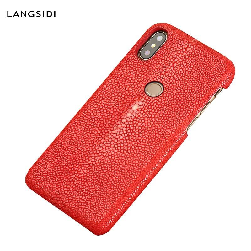Genuine Stingray Leather Phone Case For Xiaomi Mi 9 9T 10 Pro 9 Lite 8 A3 Cover For Redmi note 8 Pro Note 9S 8T Note 7 6 5 Plus
