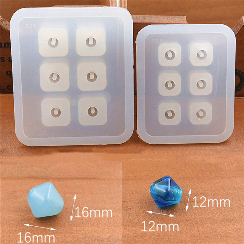 SNASAN 8pieces Silicone Mold for jewelry 9mm12mm16mm Cube ball beads with hole 6 compartment epoxy Resin Silicone Mould handmade in Jewelry Tools Equipments from Jewelry Accessories