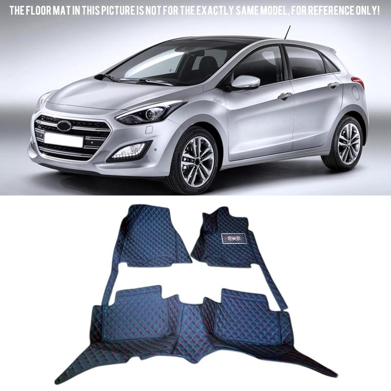 Car-styling Interior Floor Mats Carpets Foot Pads Protector Cover For Hyundai I30 Elantra GT 2012-2015 car floor mats carpets foot pads protector cover kit for mitsubishi outlander sport rvr asx 2011 2012 car styling