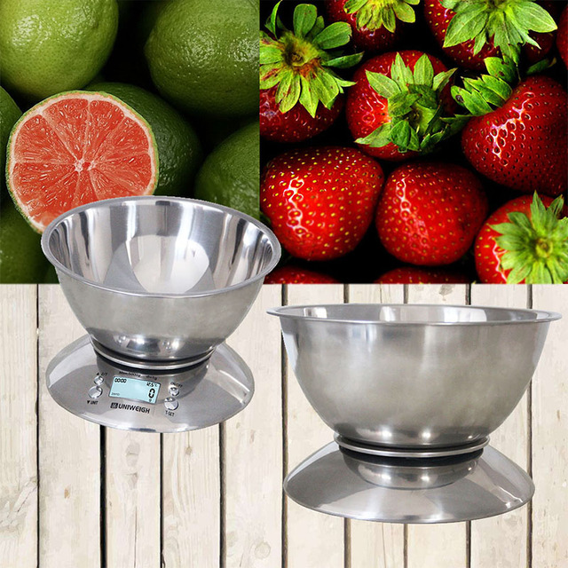 stainless steel digital scale LCD capacity 5Kg sliver color