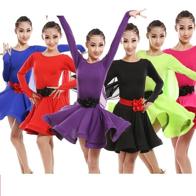 Ребенок малыш дети Профессиональный латинские танцы для продажи платье девушки модели бальные танцы платья Дети Румба ча костюмы