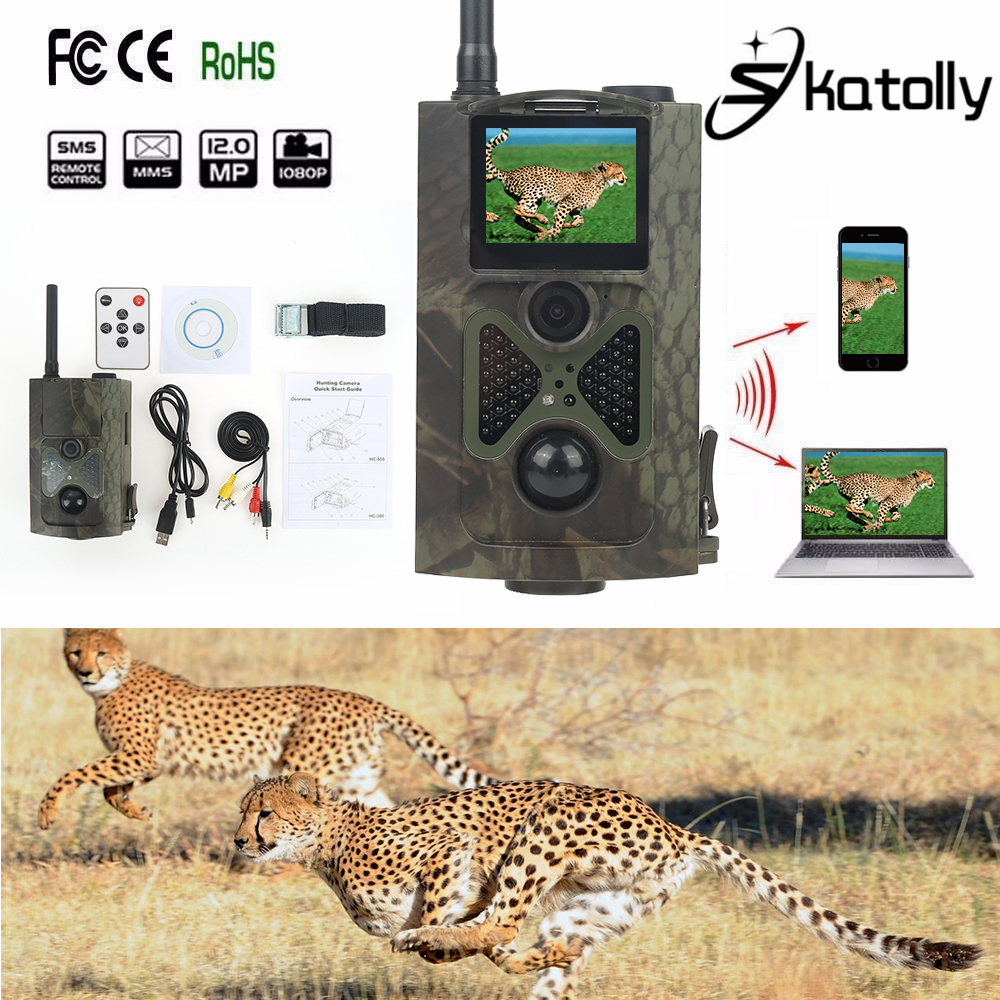Skatolly HC Type HC-500M Hunting Trail Camera For Wildlife Photo Trap With 48Pcs Night Vision Infrared Video 12MP HD Camera HWC аксессуар защитное стекло samsung galaxy a7 2017 a720f zibelino full screen 0 33mm 2 5d black ztg fs sam a720f blk