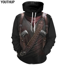 YOUTHUP 2018 Assassin Cosplay 3d Hoodies Male 3D Print Cool Fashion Hooded Sweatshirts Men Hip Hop Pullover Plus Size