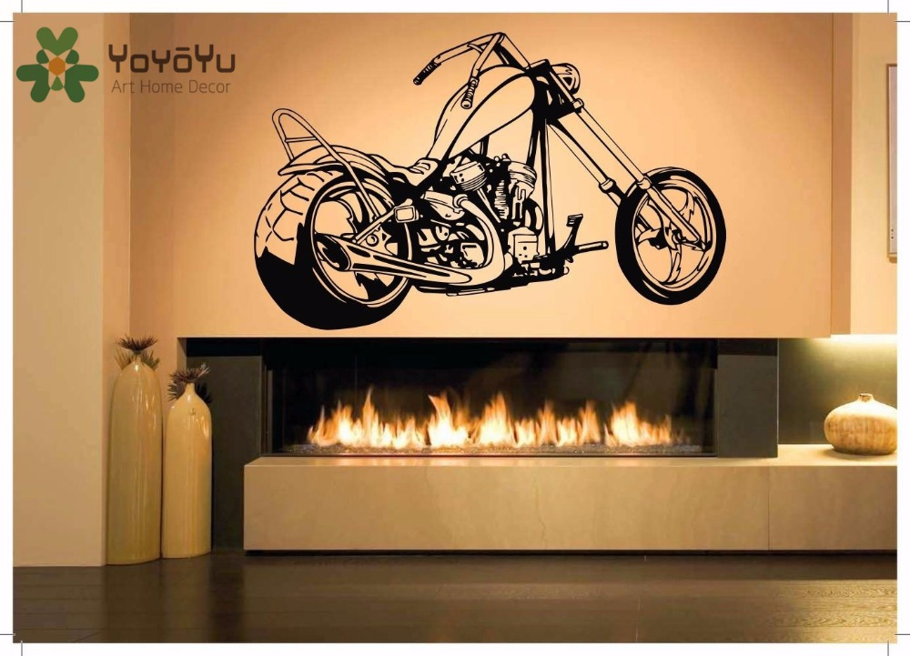Us 7 62 26 Off Yoyoyu Wall Decal Vinyl Art Home Decor Sticker Motorcycle Chopper Ride Sports Kids Room Decoration Removeable Poster Zx008 In