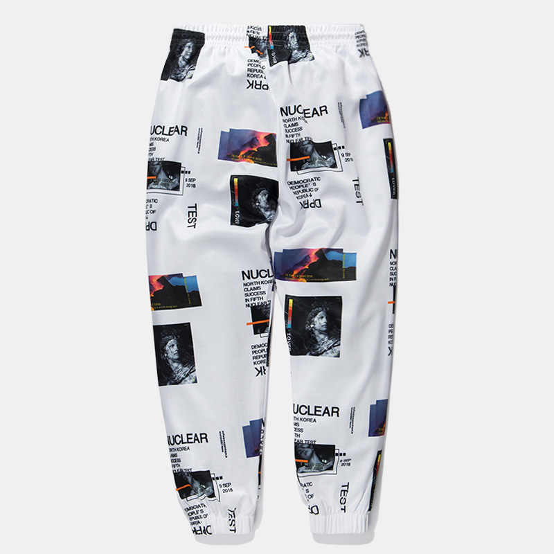 4068a62688e98 HFNF Harem Pants Graphic Print Pencil males Pants Elastic Waist Track Pants  Trousers Mens Womens Fashion Joggers Sweatpants
