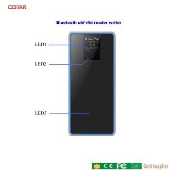 English SDK DLL phone Bluetooth UHF Handheld RFID Reader usb desktop Portable Handheld UHF RFID reader 26dBm уровень defort dll 10mt k