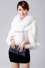 2016 S/2Xl Womens Winter And Autumn Wedding Dressed Fur Shawl Black And White Casual Cloak Cape Seeveless Faux Fur Coats J1404
