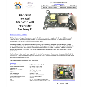 Image 5 - GAF PiHat Isolated 802.3af 10 watt PoE Hat board for Raspberry Pi and GPIO and serial use work 100Meters