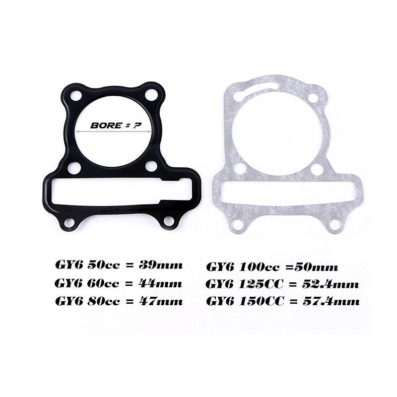 JIA Motor-GY6 50 60 Upgrade zu GY6 80cc Big Bore Pin Dichtung Kit Für GY6 50cc 139QMB 47mm Chinesische Roller