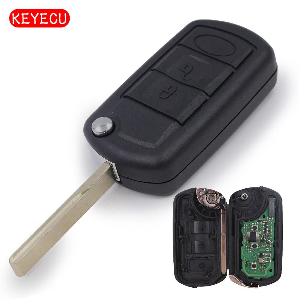 Flip Remote Car Key 315 Mhz For Landrover Lr3 Range Rover Sport Hu92 Land 2005 Wiring Diagrams Keyecu Folding 3 Buttons Case Fob 433mhz Id44 Chip Suit Ranger