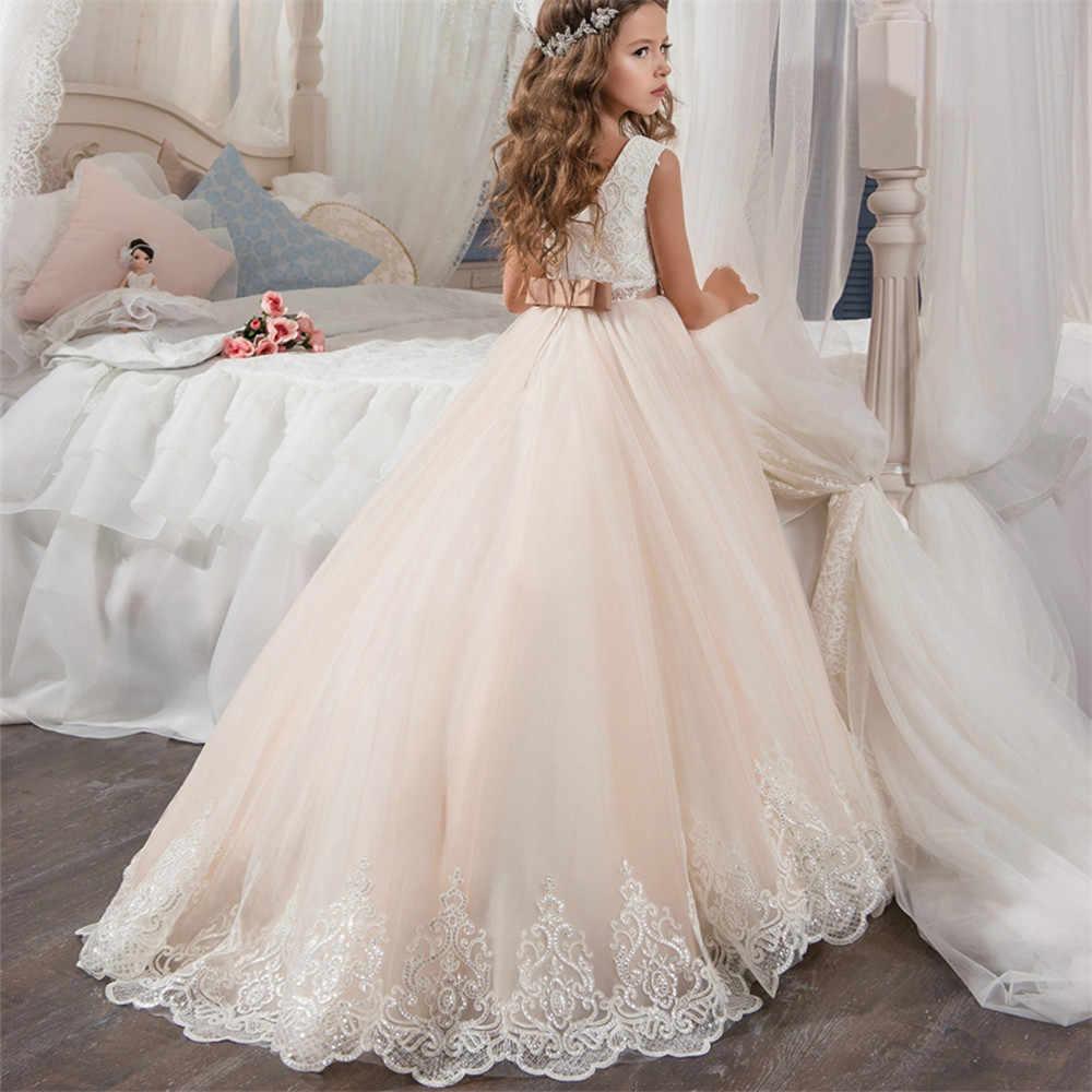 Для девочек в цветочек, платья для дня рождения и крещения, платье на выпускной, Детские золотые платья для девочек платье для Крещения Детская одежда Вечерние до 10 ти лет