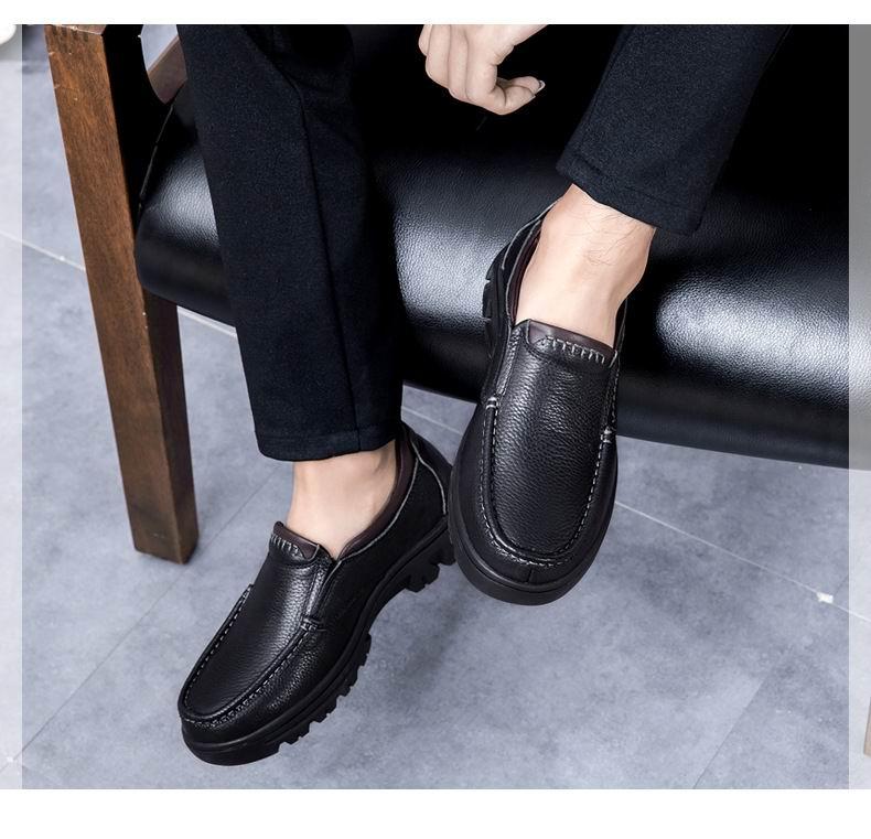Lazer Sapatos Sapatas Homens 50 37 Sapato Barco marrom Couro Para Moda Plus brownwithplush Marrom Homem Size Quente De Em Inverno Vestido Errfc Deslizamento Pai blackwithplush Novos Preto O xzE5gwz8