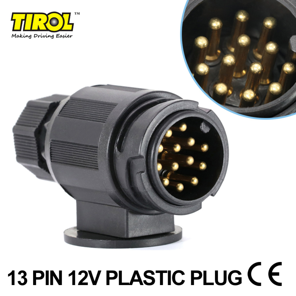 Tirol 13 Pin Trailer Plug Black Plastic 13 Pole Trailer