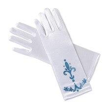 YOFEEL/перчатки для девочек с длинными пальцами; 9 цветов; Детские вечерние платья; Детские платья; Косплей рукавицы принцессы Эльзы и Анны