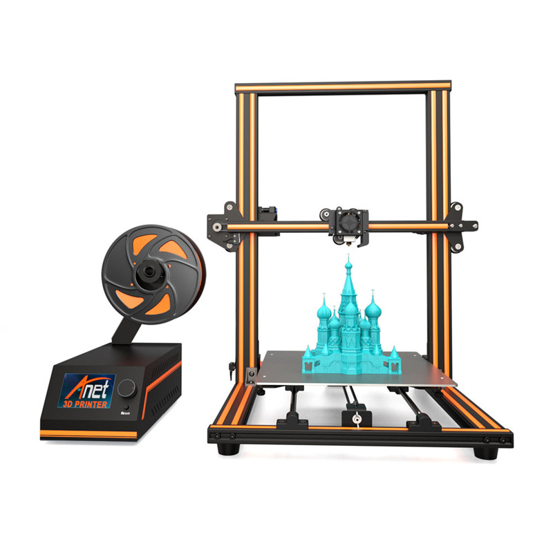 "3D Printer 11.8"" x 11.8"" x 15.7"" Pro Printing Large Print Size Full Color DIY Assembled Nozzle Heat Bed(China)"
