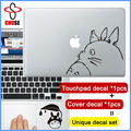 """2 pcs/lot Totoro Cartoon decal set Notebook Laptop Sticker for Apple MacBook decal 11"""" 12"""" 13"""" 15 inch Mac fashion cover skin"""