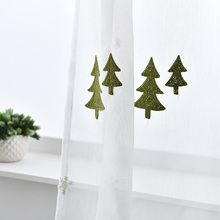 Weihnachtsbaum Besticktem Tüll Leinenvorhänge Weiß Moderne Fenster Vorhänge  Voile Wohnzimmer Vorhang Schiere Stoffe Fenster