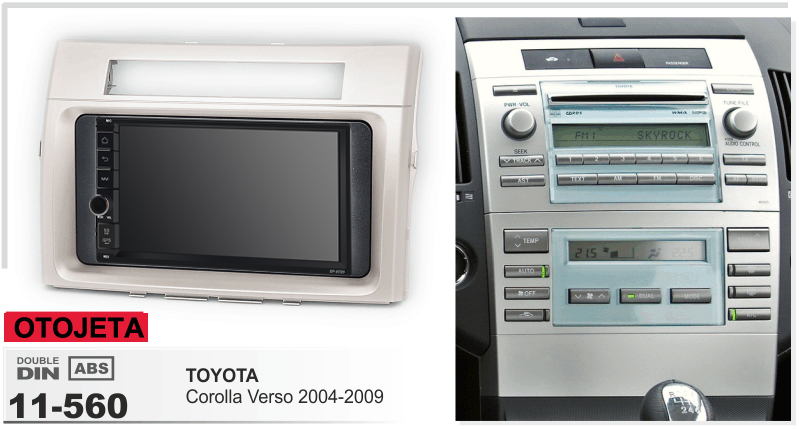 Navirider Android leitor multimédia 8.1 carro gravador (quadro + série de rádio) apto para TOYOTA corolla verso 2004-2009 gps