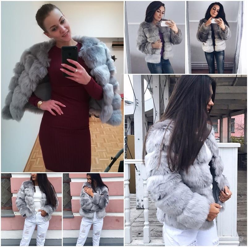 ADBOOV Vintage Moelleux Faux Manteau De Fourrure Femmes Court Furry Faux De Fourrure D'hiver Vestes Survêtement 2018 Hiver Casual Partie Pardessus