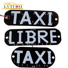 LVTUSI 1pc Taxi LIBRE Lamp LEDs License Plate Car Light Wind