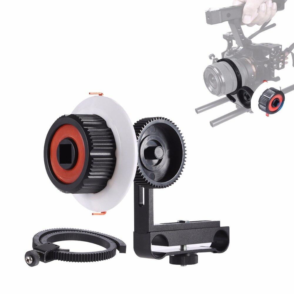 Aluminum alloy Camera Follow Focus Finder with Gear Ring Belt for Canon 5D2 5D3 Nikon Sony A7 A7II A7R A6300 /GH4 DSLR Camera varavon plastic 5d2 adjustable sling follow focus ring for slr camera black