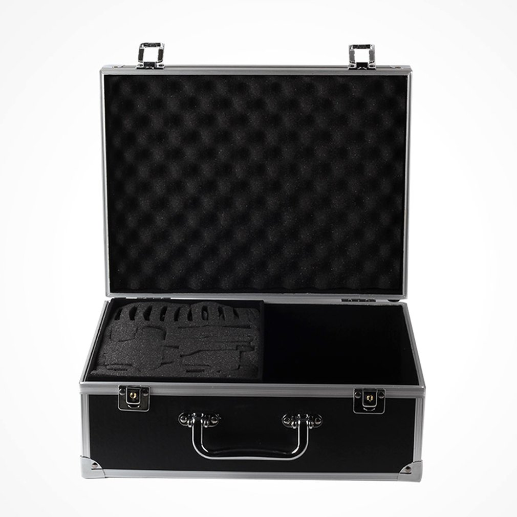 Case Aluminium Alloy + Leather Professional Suitcase Microblading Kit Empty Carry Box Tattoo Equipment With Lock