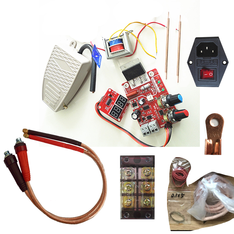 Spot Welder Whole Sets DIY kits Assembly Welding Machine Transformer NY D01 Controller Pins Foot Switch