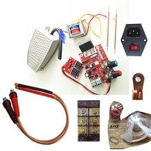 Zgrzewarka punktowa całe zestawy zestawy diy montaż spawarka transformator NY D01 kontroler szpilki przełącznik nożny miedziane złącze wtykowe