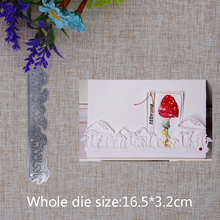 2019 New Arrival Cute Mushroom Strip Ornament Cutting Dies Stencil DIY Scrapbook Embossing Decorative Paper Card  Craft 165x32mm 2019 new arrival lovely circle grass cutting dies stencil diy scrapbook embossing decorative paper card craft template 89x83mm