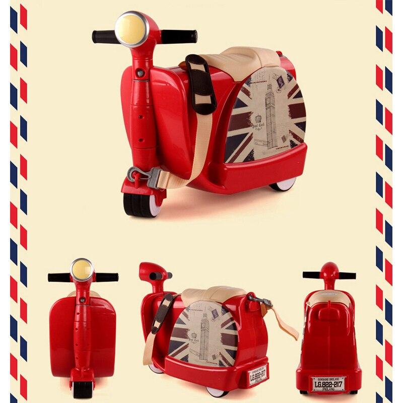 New Children Travel Locker Handbag Boy Girl Creative Toy Box Luggage Suitcase Pull Rod Box Can Sit To Ride Check Box Child Gift