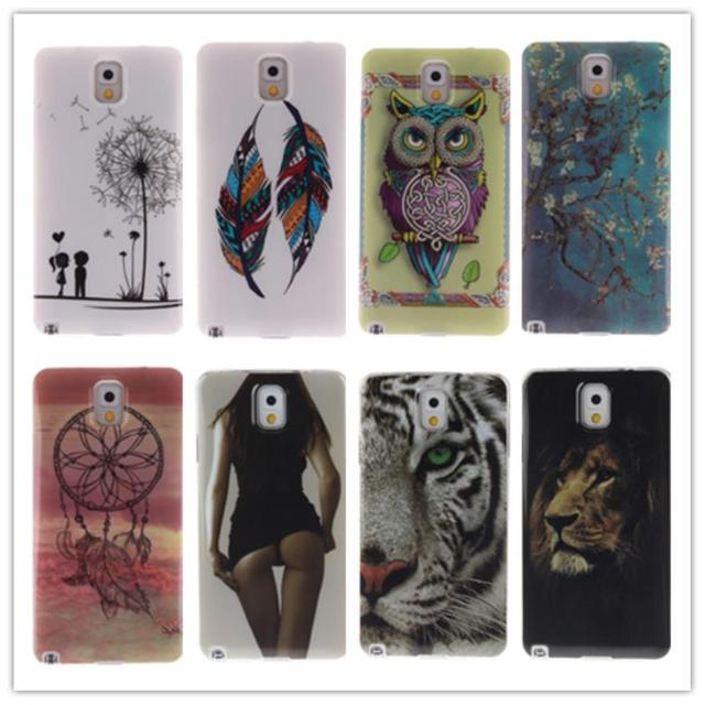 TPU Case for Samsung Galaxy Note 3 Note3 SM N900 SM-N900 N9000 SM-N9000Q N9002 SM-N9002 N9005 SM-N9005 Silicone Cover Phone Case