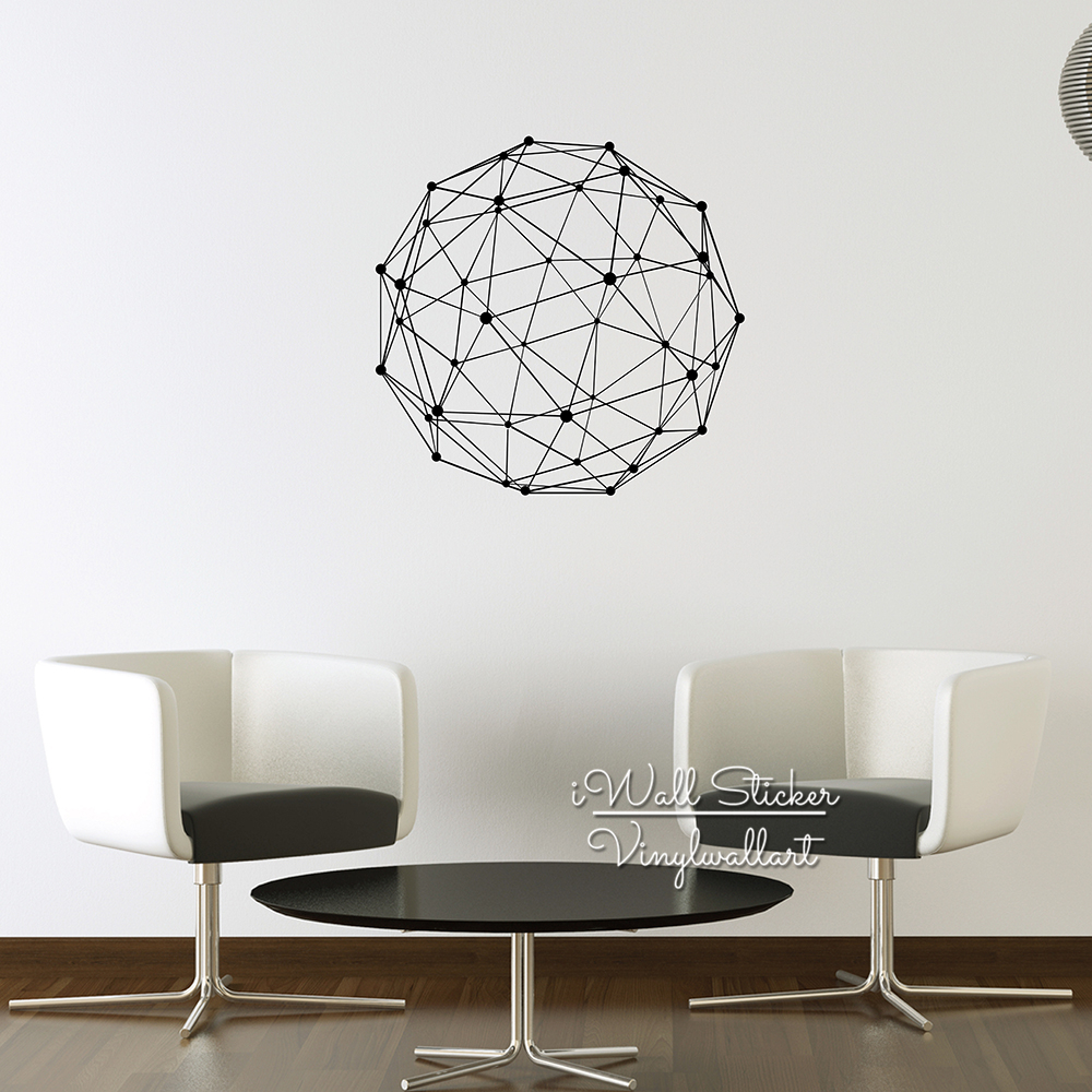 Aliexpress.com : Buy Geometric Wall Sticker Modern Geometric Figure Wall  Decal DIY Modern Wall Decal Cut Vinyl Home Decoration Living Room Decor M52  From ...