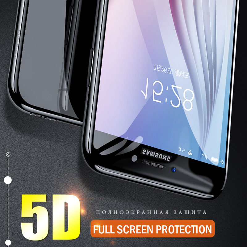 A6 plus 2018 5D Curved Tempered Glass Screen Protector Case For Samsung Galaxy A8 plus 2018 A3 A5 A7 2017 A320 A520 Film Cover