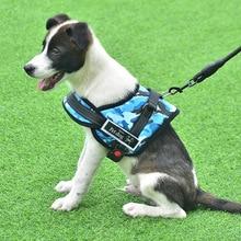 XL Medium Pet Supplies Vest Collar Accessories Adjustable Nylon No Pull Dog collar Large For Big Harness Leash