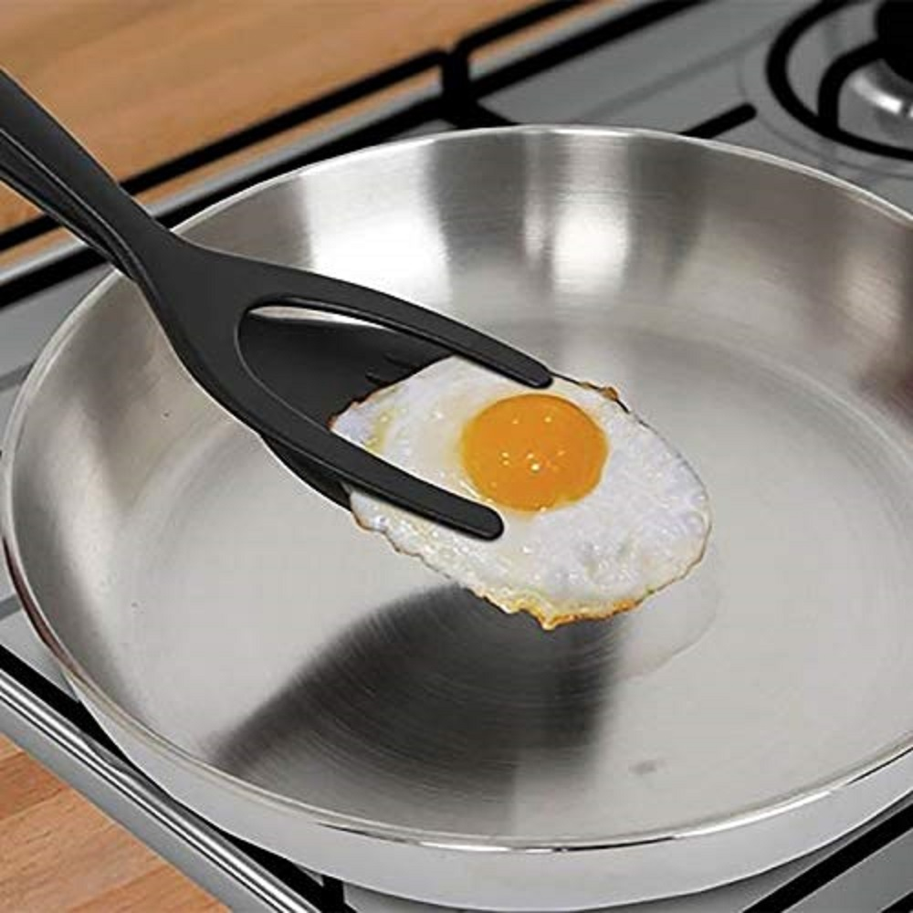 Creative Egg Pie Servers+Tweezers 2IN1 Flip Perfect Pancake Making Useful Easy Baking Cooking Shovel Turner Home Kitchen Tool image