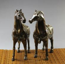 Antique bronze ornaments horse gifts copper raw Chaumat metal crafts antique valentines  shipping