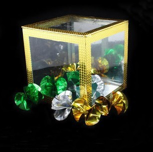 8 inch Crystal Clear Cube - Large, card stage magic,illusions,card tricks novelties,close up,comdy magic trick products