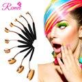 Oro rosa 10 Unids/set Componen Cepillos de Dientes Forma de Usos Múltiples Kit Fundación Polvo Ovalada Cosmética Profesional Cepillo Del Maquillaje